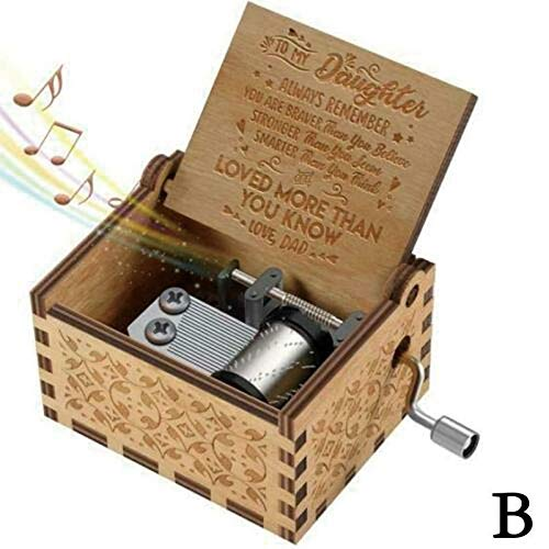 OUlike Mini Caja de música de Madera con Grabado «You Are My ...
