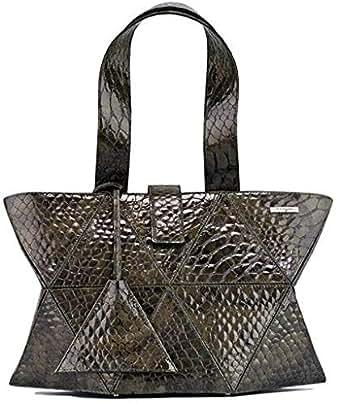 Kaizer KI1808OLIV Leather Shoulder Bag for Women - Olive Green