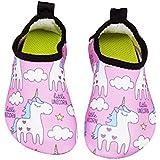 Adorllya Kids Boys Girls Toddler Swim Water Shoes Barefoot Aqua Socks Shoes for Beach Pool Surfing