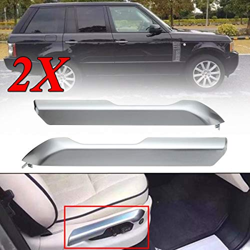 Cacys-Store - A Pair New Car Seat Cushion Valance Chrome Cover For Land Rover Range Rover 2004-2012 All Models Interior Mouldings ()