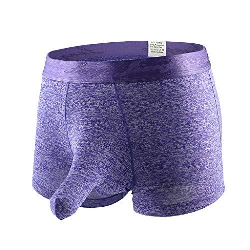 Price comparison product image Gocheaper,  Men's Soft Underwears Pouch Thongs G String Sexy Briefs Shorts Bikini Boys Pants (L,  Purple 2)