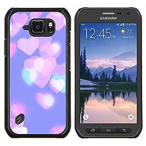 Stuss Case / Funda Carcasa protectora - Corazones ciudad rosa púrpura del trullo - Samsung Galaxy S6 Active G890A