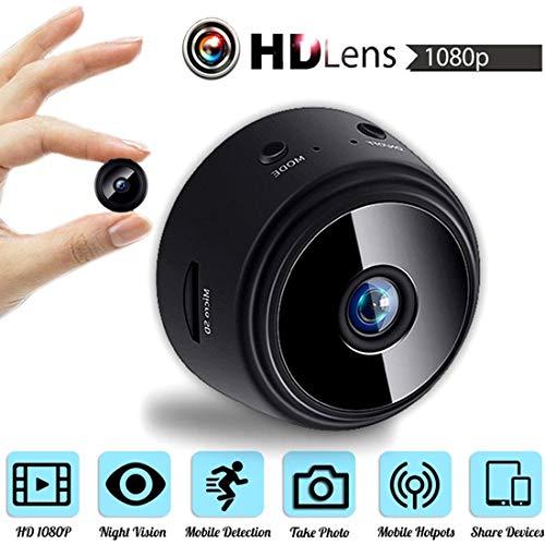 GCARTOUR- Cámara oculta WiFi Mini Cámara, HD 1080P Mini Spy Cámara inalámbrica Nanny Cam-Magnética Cámara de Seguridad...