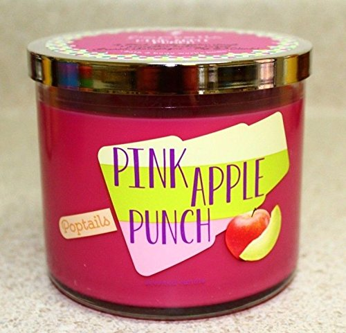 Bath & Body Works Scented 3 Wick Candle 14.5 Oz PINK APPLE PUNCH