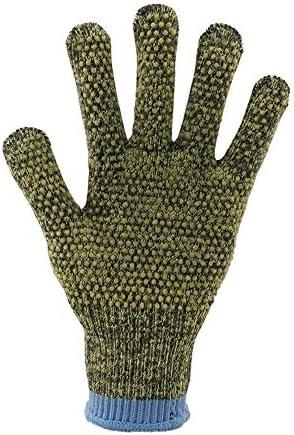 手袋 日常 実用 滑り止めカットプルーフグローブPVCプラスチックポイント輸入ワイヤー迷彩手袋 (Color : Green, Size : L)