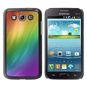 ROKK CASES / Samsung Galaxy Win I8550 I8552 Grand Quattro / RAINBOW SWIRL / Delgado Negro Plástico caso cubierta Shell Armor Funda Case Cover