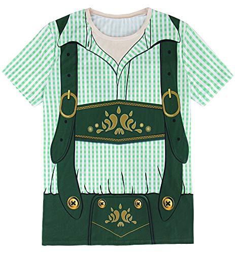 Funny World Mens Bavarian Oktoberfest Costume T-Shirts