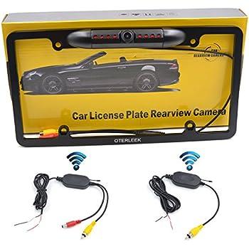 Amazon Com Wireless Car License Plate Backup Camera Usa