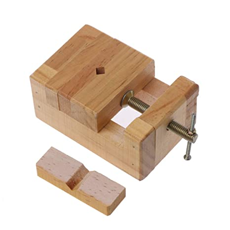 Yangerous Wood Flat Vise Mini Clamp On Bench Vise Flat Tongs