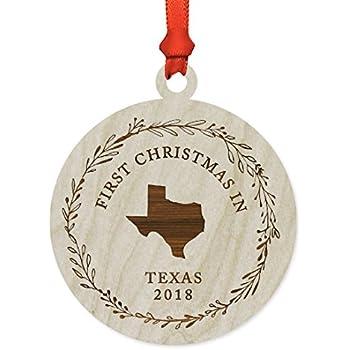Amazon.com: Personalized Texas Christmas Tree Ornament ...
