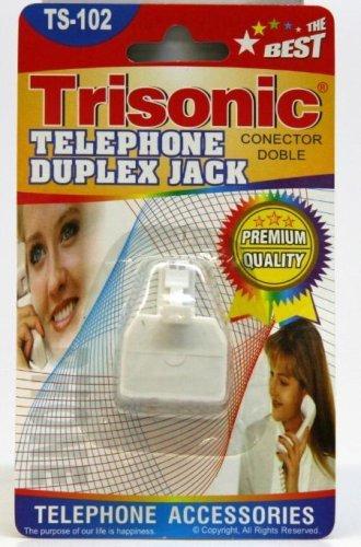 Trisonic Telephone Duplex Jack TS-102