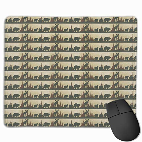 Smooth Mouse Pad Moose Bear Mobile Gaming Mousepad Work Mouse Pad Office Pad
