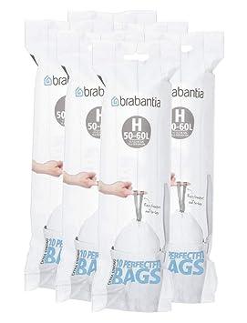 Brabantia 246784 tipo H rollo de 10 bolsas de basura, para ...