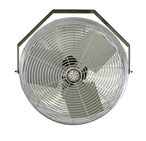 TPI Corporation U18-TE Industrial Workstation Fan - 120 Volt 360 Degree Horizontal, Vertical Swirl Air Circulator. Venting Exhaust Fans