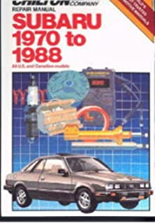 CH6982 Chilton Subaru 1970-1988 Repair Manual
