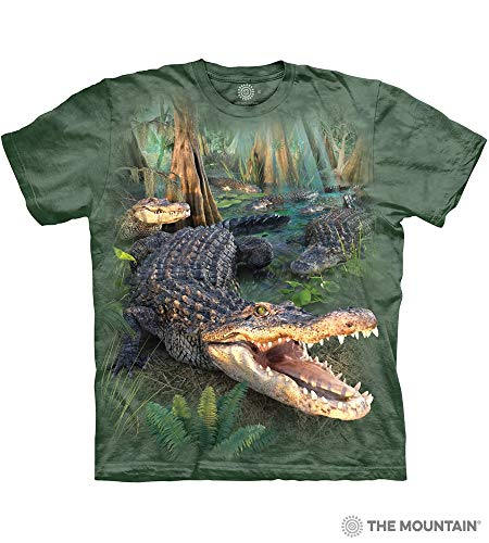 The Mountain Gator Parade Adult T-Shirt, Green, Large
