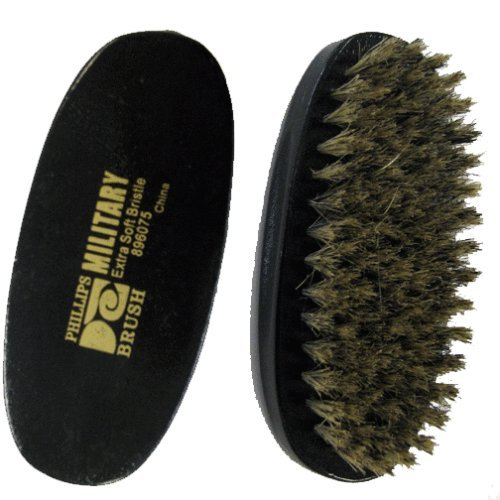 PHILLIPS MILITARY HAIR BRUSH, OVAL X-TRA SOFT PURE BRISTLE