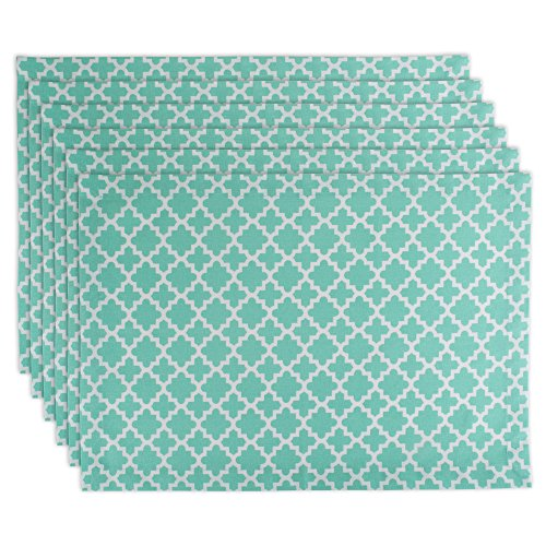 DII Lattice Cotton Placemat For Dinner Parties, Spring & Outdoor Picnics  - 13x 19