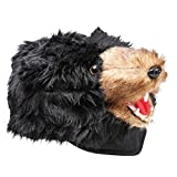 Black Bear Plush Animal Hat