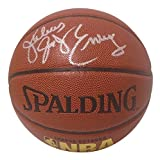 Philadelphia 76ers Dr. J. Julius Erving Autographed Hand Signed NBA Spalding Basketball with Proof Photo of Signing, New York Nets, Virginia Squires, COA