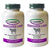 Liverite 100% Argentinian Grass-Fed Beef Liver in Vegetable Capsules 2-Pack: 240 Capsules 750mg Each