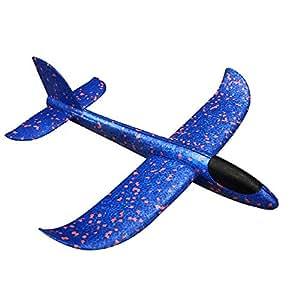Manual de lanzamiento de espuma planeador avión inercia aeronave de juguete de lanzamiento de mano avión modelo deportes al aire última intervensión juguete, Azul