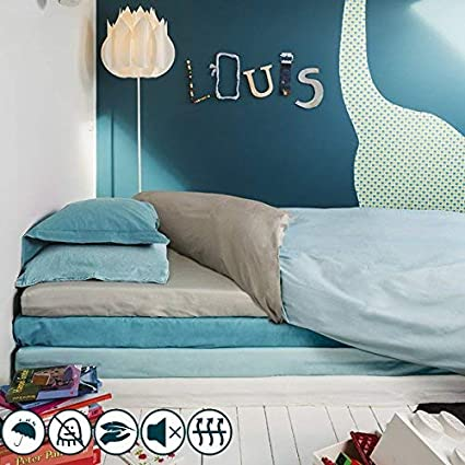 Housse de couette imperm/éable et anti-acariens 120x150cm Blue on Blue Louis Le Sec