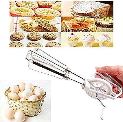 Agger Rotary Mano Huevo Huevo baten Mezclador Blender para el Manual de Cocina giratoria Huevo batidor de Mano giratoria Mano Bata