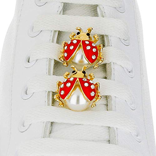 Red Ladybug Charm - Shoelace Customization - [Box] Red Ladybug Box Shoelace Charms - trainer tag for Nike, Adidas, Converse, Puma, Vans sneakers - Inspirational Gift - Fashion Accessory - shoelace charms for runners