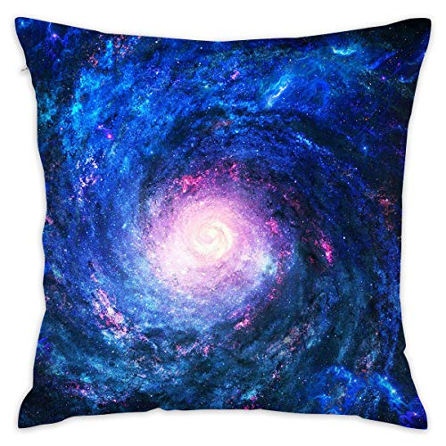 - Reteone Abstract Space Blue Vortex Pillowcase Covers - Zippered Pillow Case Cover, Pillow Protector, Best Throw Pillow Cover - Standard Size 18x18 Inch, Double-Sided Print Pillowcases