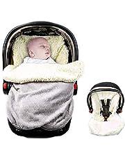 MASHO Saco para dormir bebé cubre portabebé cubierta polar para el huevito tipo sleeping bag manta invierno con forro de lana para bebés de 0 a 12 meses, se ajusta al cinturón de seguridad