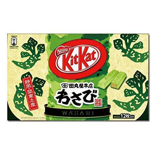Japanese Kit Kat - Wasabi Chocolate Box 5.2oz (12 Mini Bar)
