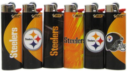 - 8 pc Set BIC Pittsburgh Steelers NFL Officially Licensed Cigarette Lighters
