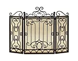 Best Benzara Fireplaces - Benzara Metal Fire Screen, Brown Review