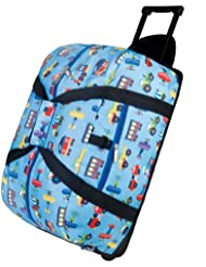 Wildkin Rolling Duffel Bag, Features Telescopic Handle and Moisture-Resistant Lining, Perfect for Sleepovers,...