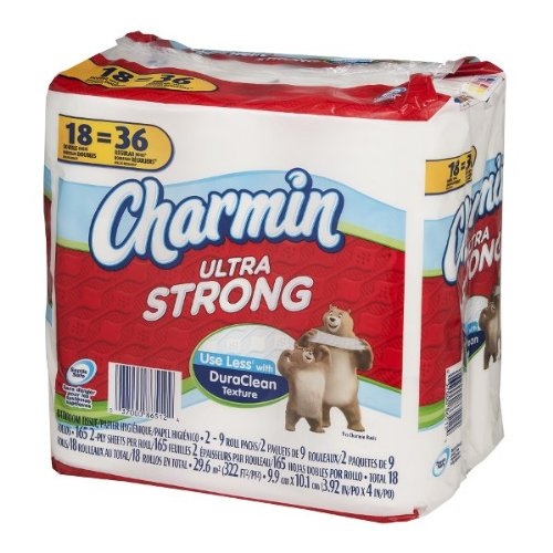 Charmin Ultra Strong Toilet Paper Double Rolls - 18 ct