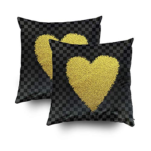 - Nap Pillow Case for Couch,Shorping Zippered Pillowcases 18x18Inch Pack 2 Throw Pillow Covers Design Template Heart for Valentines Day Background wrapping wallpaper textile invitation wedding ca for Ho