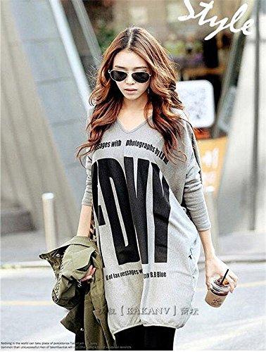 大きいサイズ ルーズなロゴTシャツ チュニック レディース カットソー チュニックワンピf9