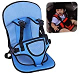 STOP 'N' BUY Adjustable Baby Car Cushion Seat with Safety Belt for Children Multi Color