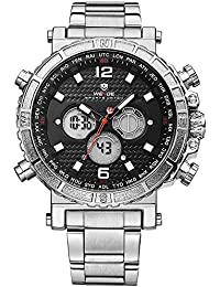 Sport Digital Watch-Mens Fashion Military, Alarm, Calendar, Quartz, Stainless Steel. Weide