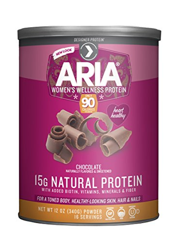 Designer Protein Aria, Women's Wellness Protein, Chocolate, 12 Ounce