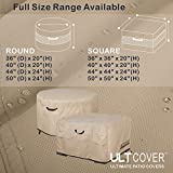 ULTCOVER Patio Fire Pit Table Cover Round 44 inch