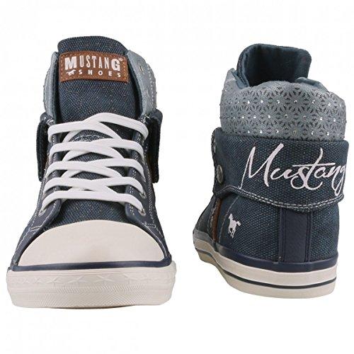 Mustang 1146-514-21, Zapatillas Altas para Mujer Blau