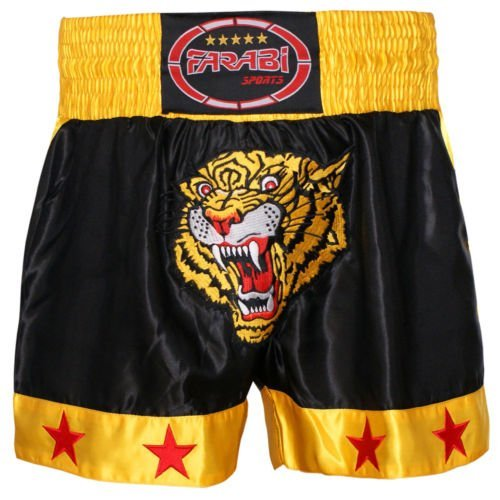 Farabi Sports Muay Thai Kick Boxing Short Tiger (MEDIUM)