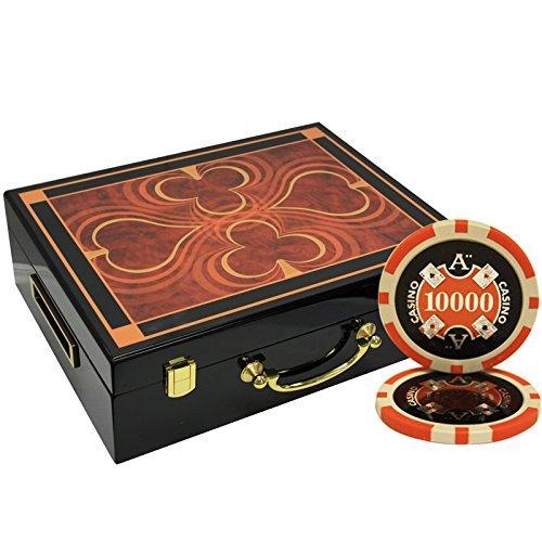 MRC MRC 500枚入りAce CasinoレーザーPoker ChipsセットwithハイGloss木製ケース B078S656K4 [並行輸入品] B078S656K4, アドショップ:e0e8f54c --- 2017.goldenesbrett.net