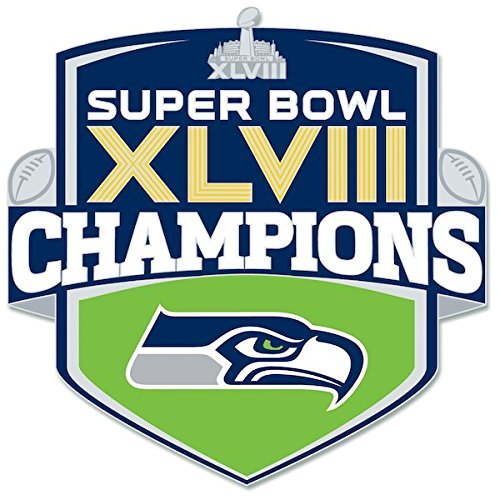 WIN Seattle Seahawks Super Bowl XLVIII Champions Shield Collector Pin