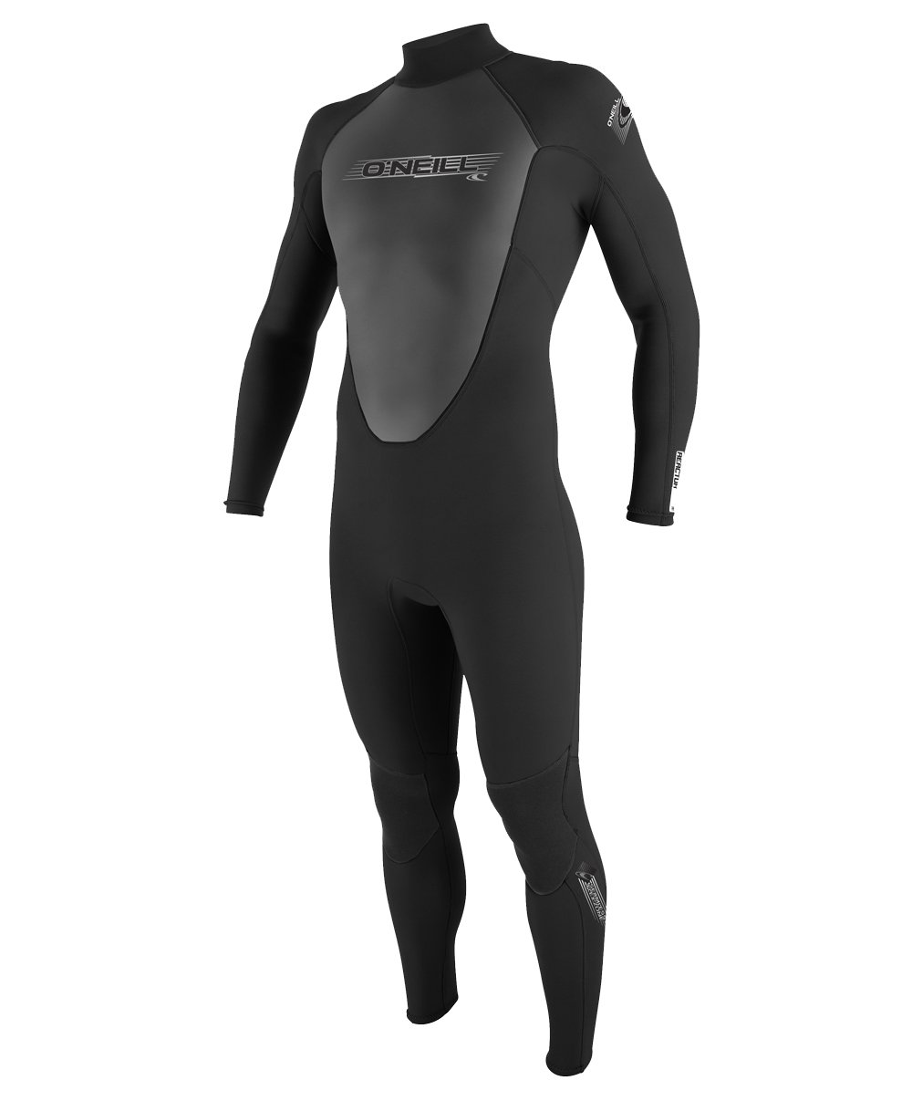 O'Neill Wetsuits Wetsuits Mens 3/2mm Reactor Full Suit, Black, X-Small