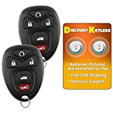 Discount Keyless Replacement Key Fob Car Entry Remote For Chevy Impala Monte Carlo Lucerne DTS OUC60270, 15912860 (2 Pack)