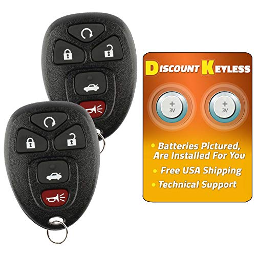 - Discount Keyless Replacement Key Fob Car Entry Remote For Chevy Impala Monte Carlo Lucerne DTS OUC60270, 15912860 (2 Pack)