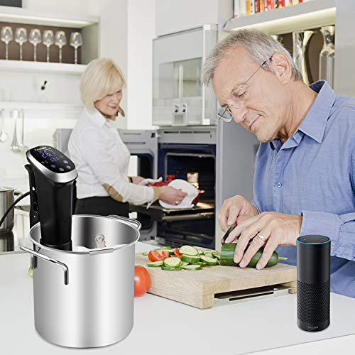 Anmade WiFi Sous Vide 1000W Precise Cooker Immersion Circulator Work with Alexa IPX7 Waterproof with Accurate Temperature Timer Control and Recipe for Kitchen by Anmade (Image #6)